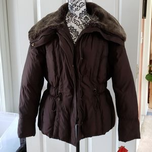 NWT Style & co down feather coat jacket L